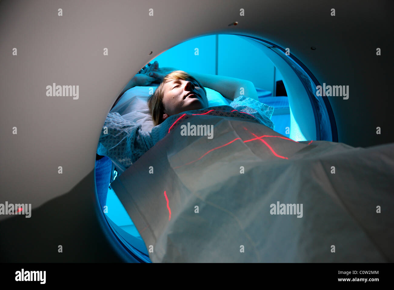 Computed axial tomography, CAT, CT,  in a hospital. Germany - Stock Image