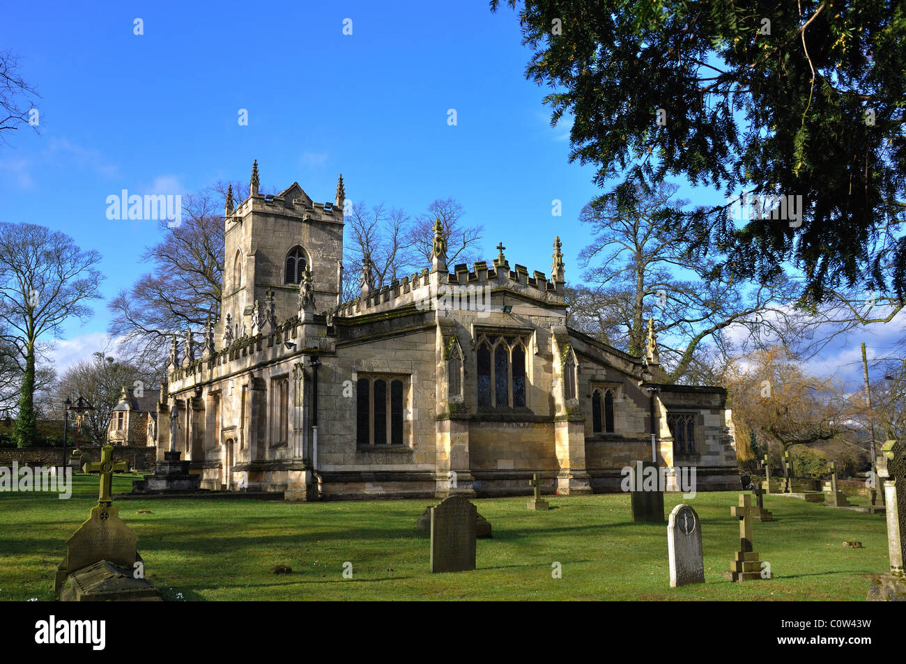 St Wilfrid Church Hickleton South Yorkshire - Stock Image