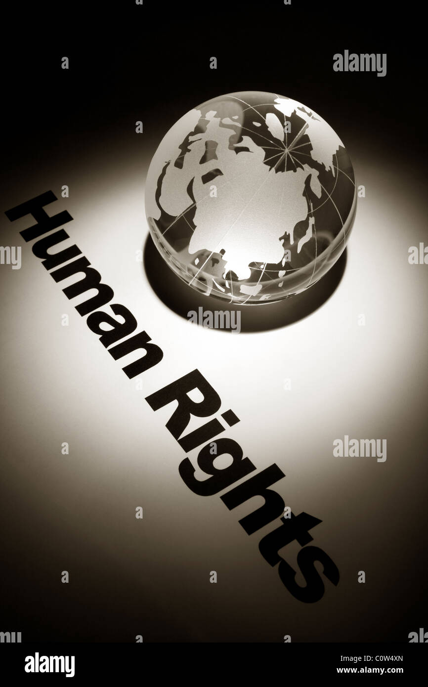 globe, concept of Human Rights - Stock Image