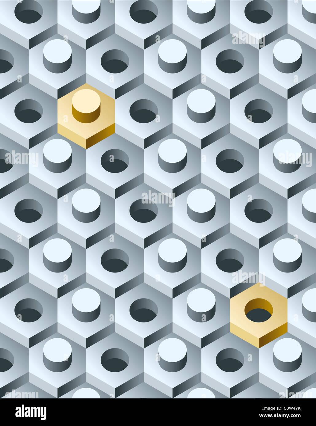 3D pattern - Stock Image