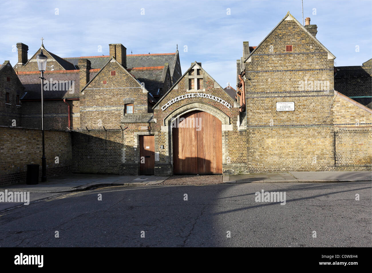 CARMELITE MONASTERY, this is a view of the main entrance to the said