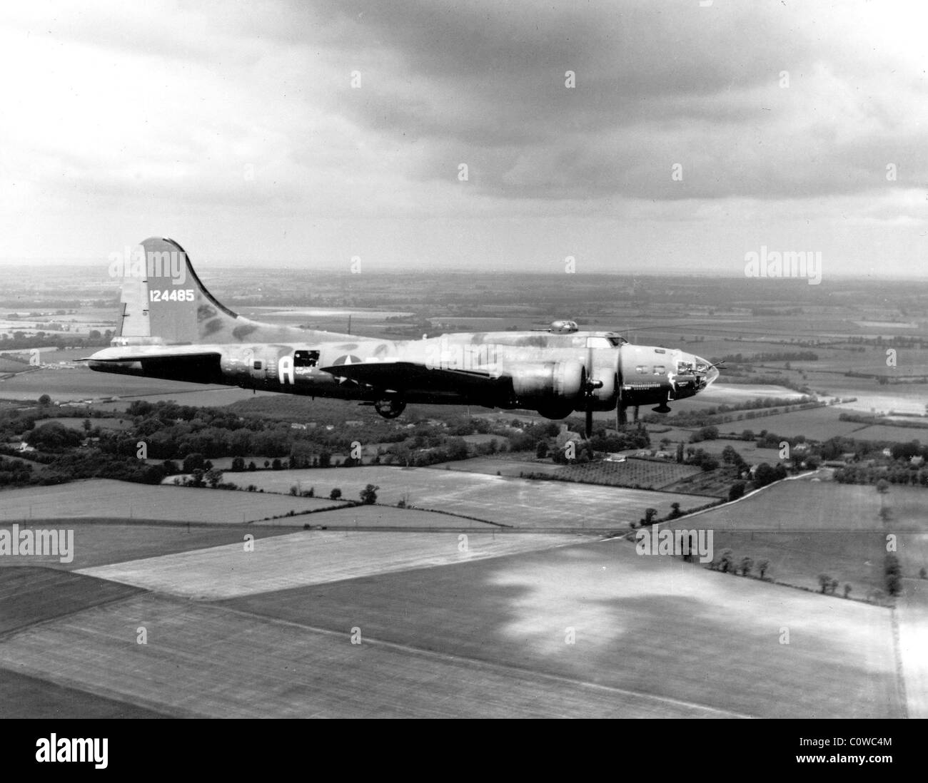 Memphis Belle, The Boeing B-17 'The Memphis Belle' is pictured on her way back to the United States from - Stock Image