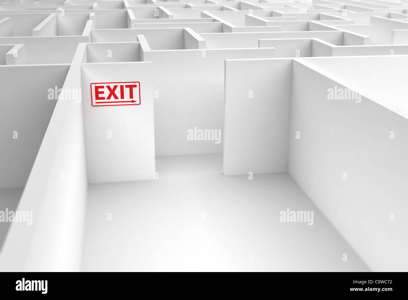 Exit strategy - Stock Image
