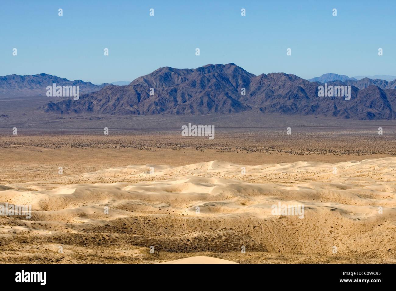 Landscape of the Mojave Desert, California. - Stock Image