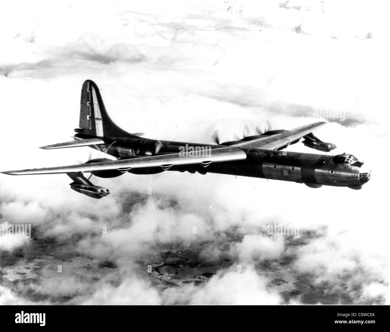 Convair RB-36-D, the jet-augmented version of the U.S. Air Force's intercontinental strategic bomber. - Stock Image