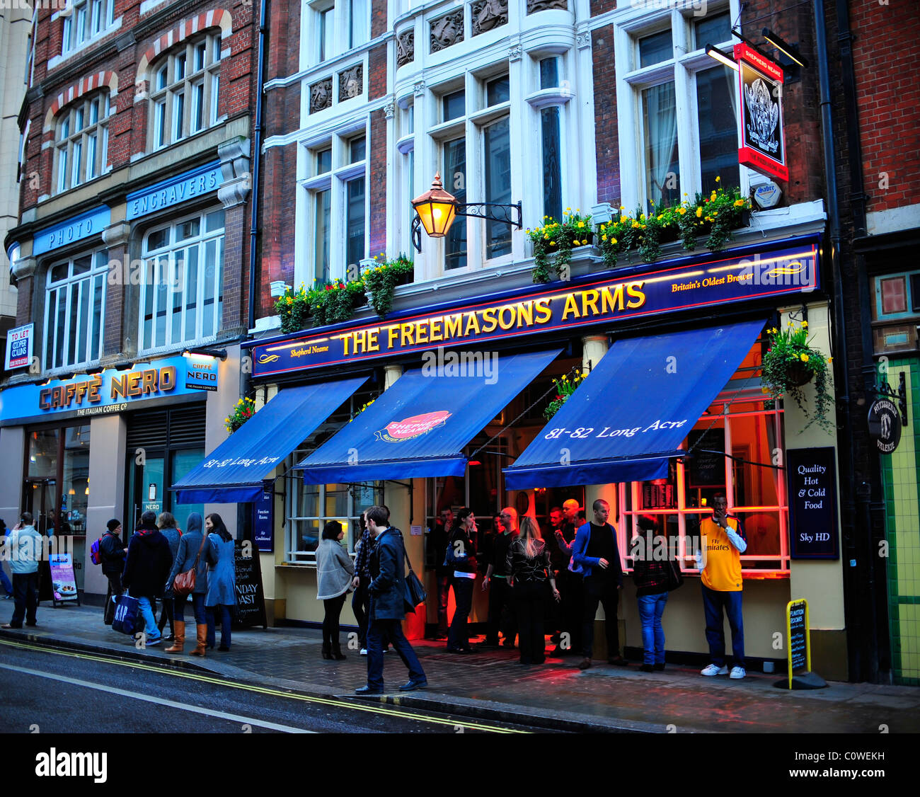 The Freemasons Arms Pub in London - Stock Image