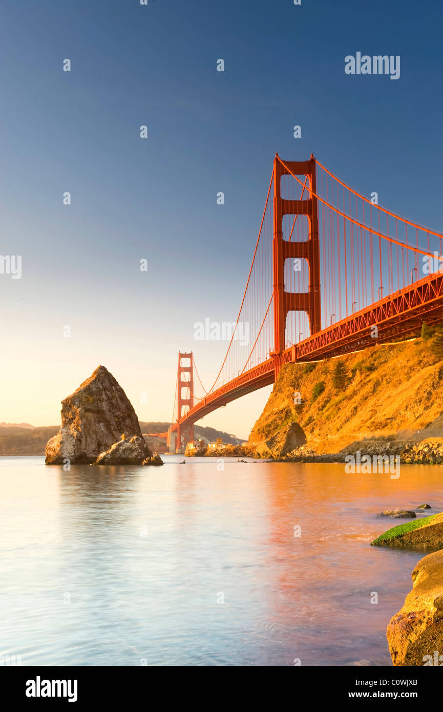 Usa, California, San Francisco, Golden Gate Bridge - Stock Image
