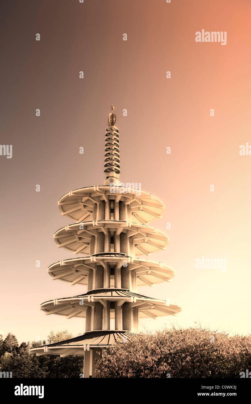 Usa, California, San Francisco, Japantown, Peace Pagoda - Stock Image