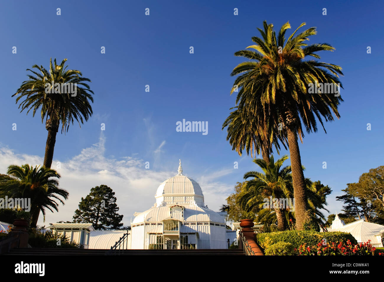 Usa, California, San Francisco, Golden Gate Park, Conservatory of Flowers Stock Photo