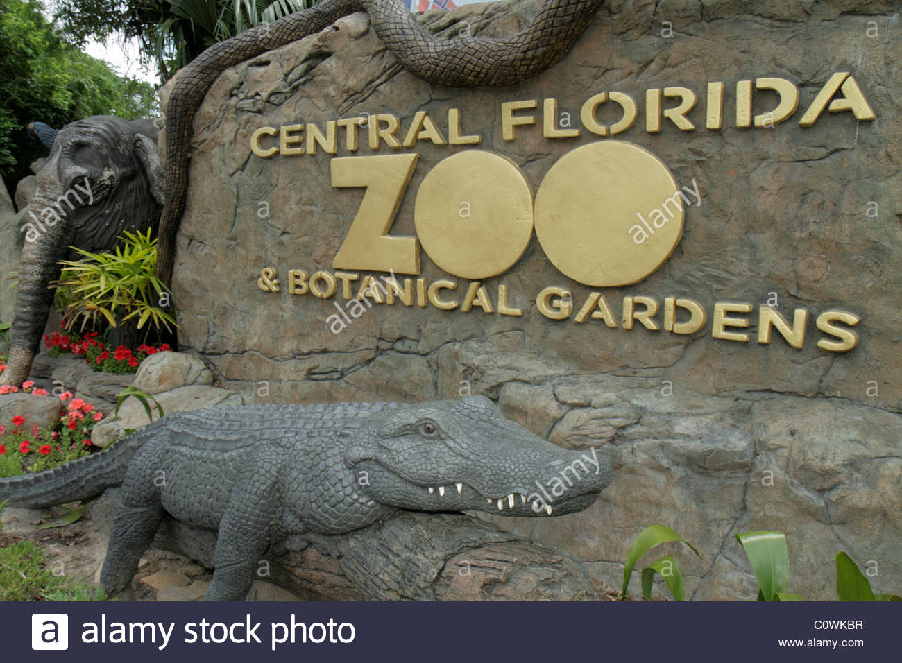 Orlando Florida Sanford Central Florida Zoo And Botanical Gardens Stock Photo 34984763 Alamy