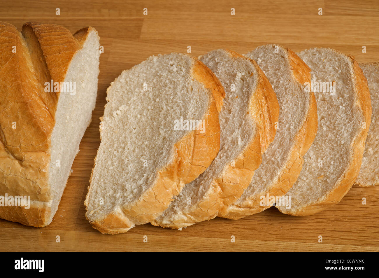 White bloomer loaf of bread - Stock Image