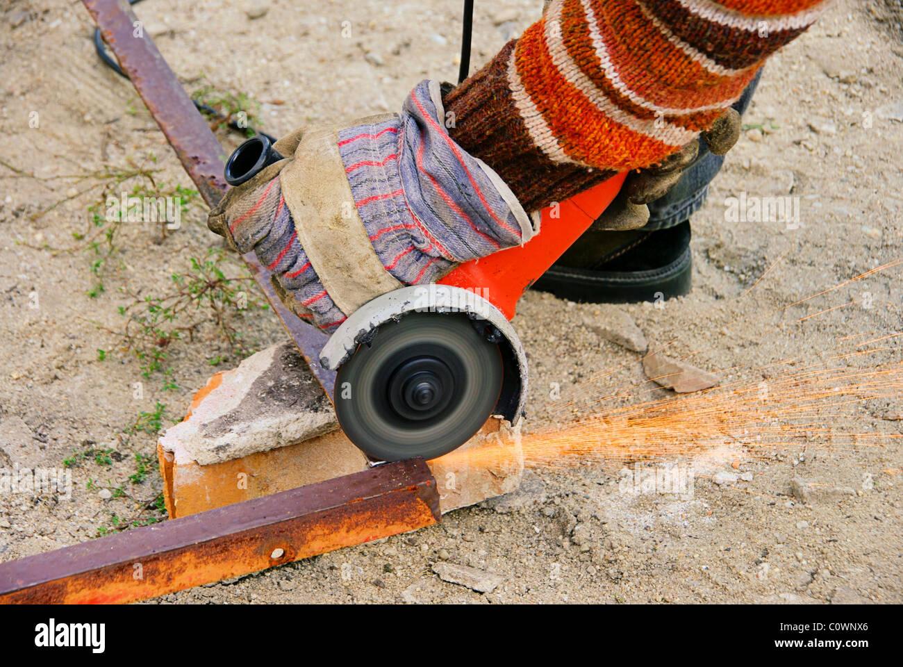 Winkelschleifer - angle grinder 06 - Stock Image