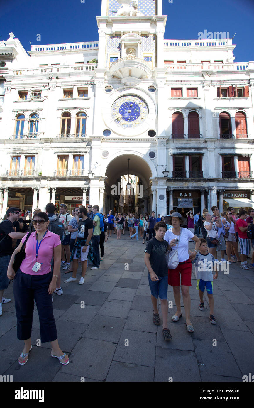 Tourists in Venice Italy Stock Photo