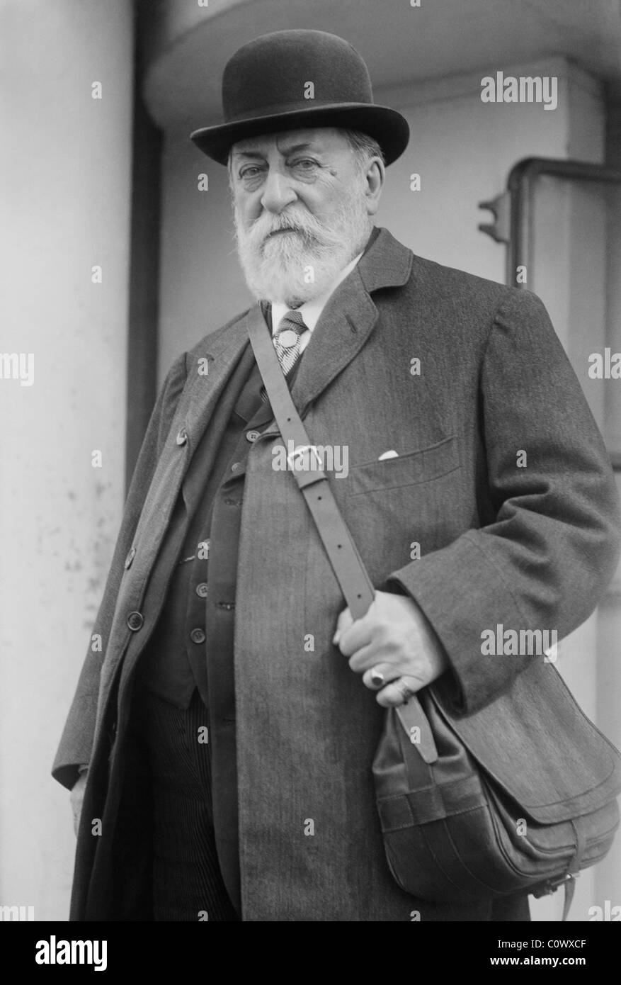 Vintage photo circa 1915 of French composer, organist, conductor and pianist Camille Saint-Saens (1835 - 1921). - Stock Image