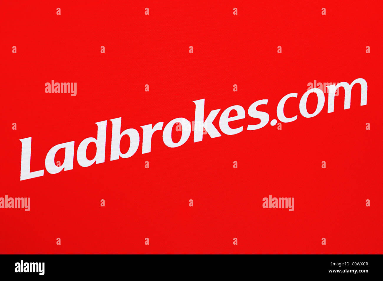 Ladbrokes Screenshot. Ladbrokes.com is the Internet Version of the Bookmaker. - Stock Image