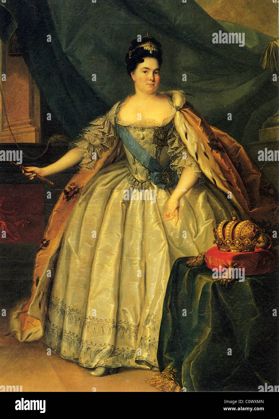 CATHERINE I OF RUSSIA  (1684-1727) Empress and Autocrat of All the Russias painted about 1717 - Stock Image