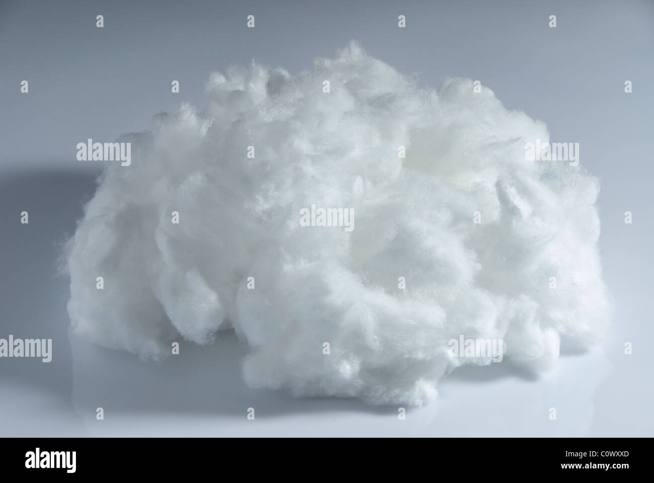 A wad of cotton wool. - Stock Image