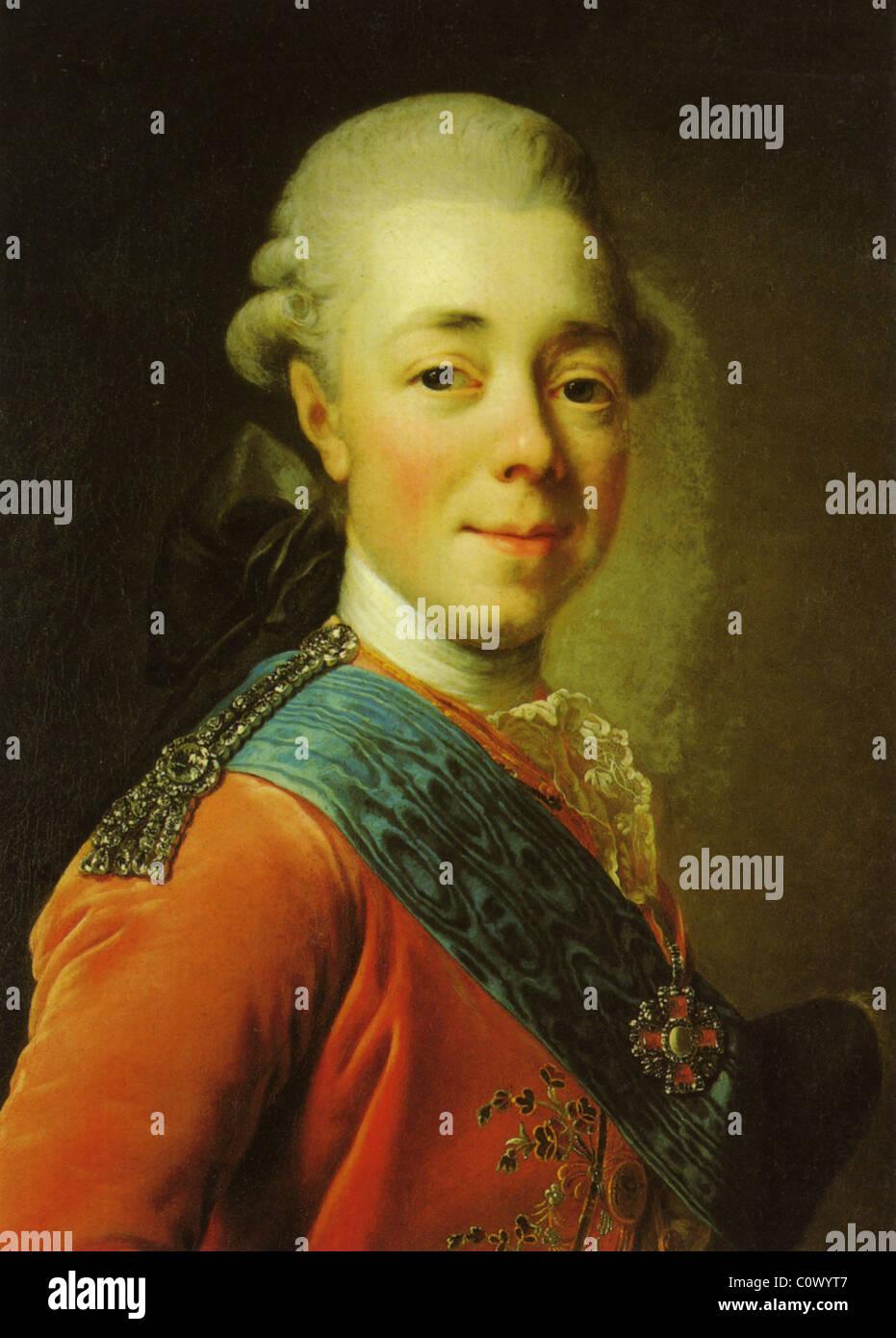 EMPEROR PAUL I OF RUSSIA  (1754-1801) - Stock Image