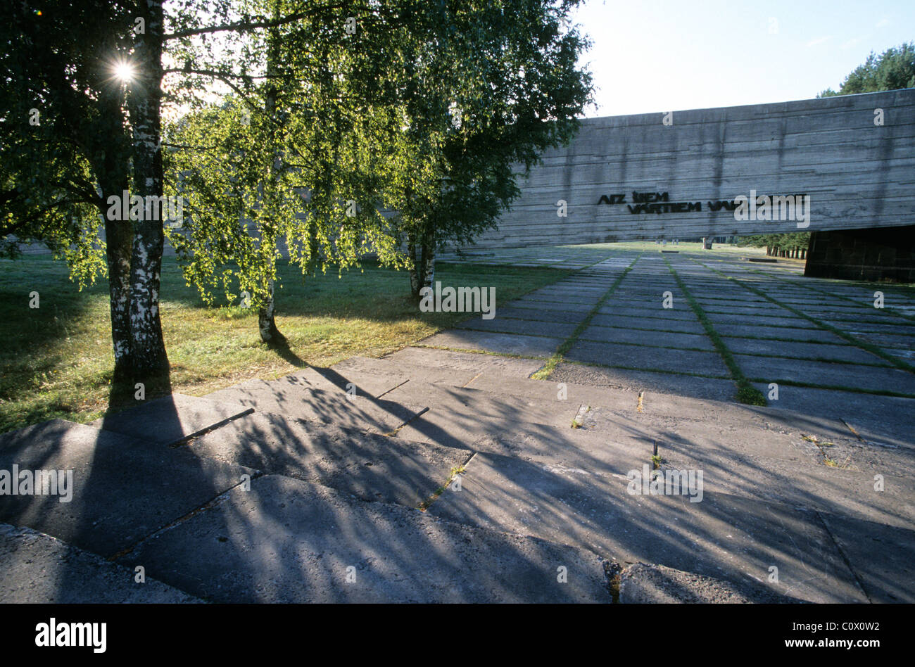 Riga the capital of Latvia, one of the Baltic States. Salaspils WW2 Nazi concentration camp. - Stock Image