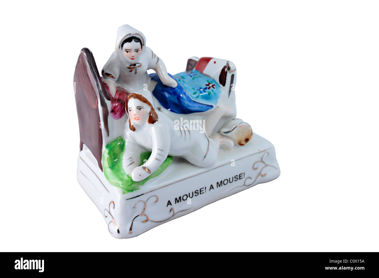 Fairings Ceramic Ornament 'A Mouse A Mouse' - Stock Image
