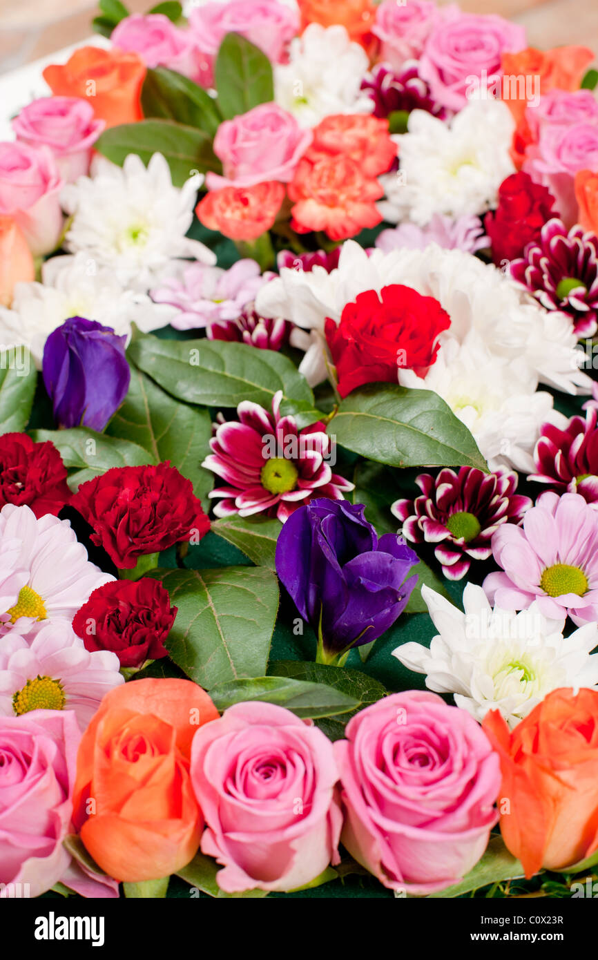Funeral flowers stock photos funeral flowers stock images alamy heart shaped funeral flowers stock image izmirmasajfo