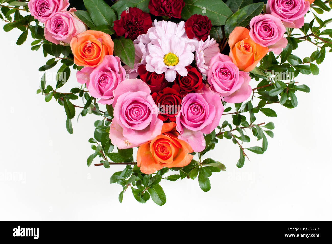 Heart shaped funeral flowers stock photo 34993349 alamy heart shaped funeral flowers izmirmasajfo