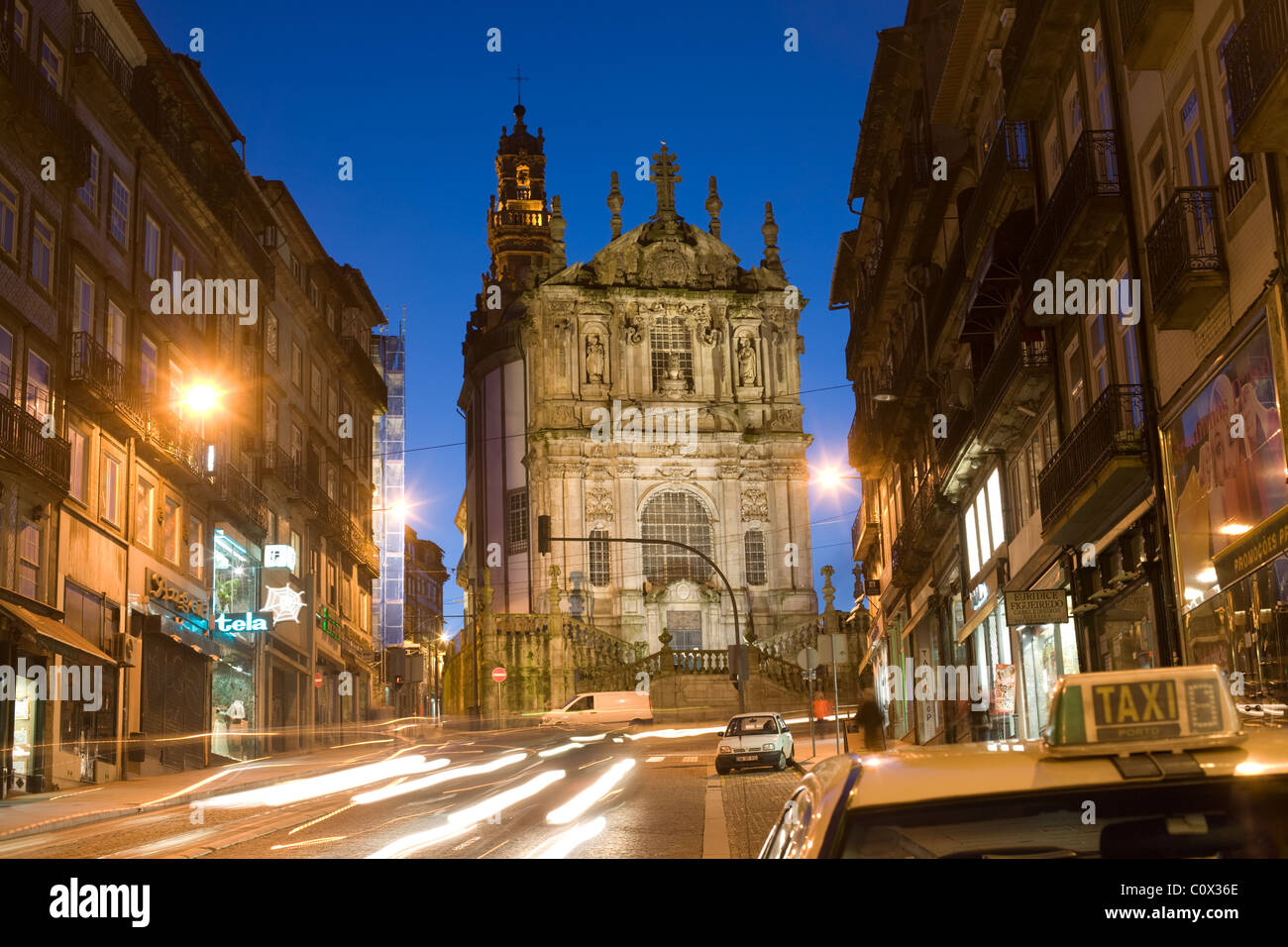 Clerigos Tower and Church, Oporto, Portugal - Stock Image