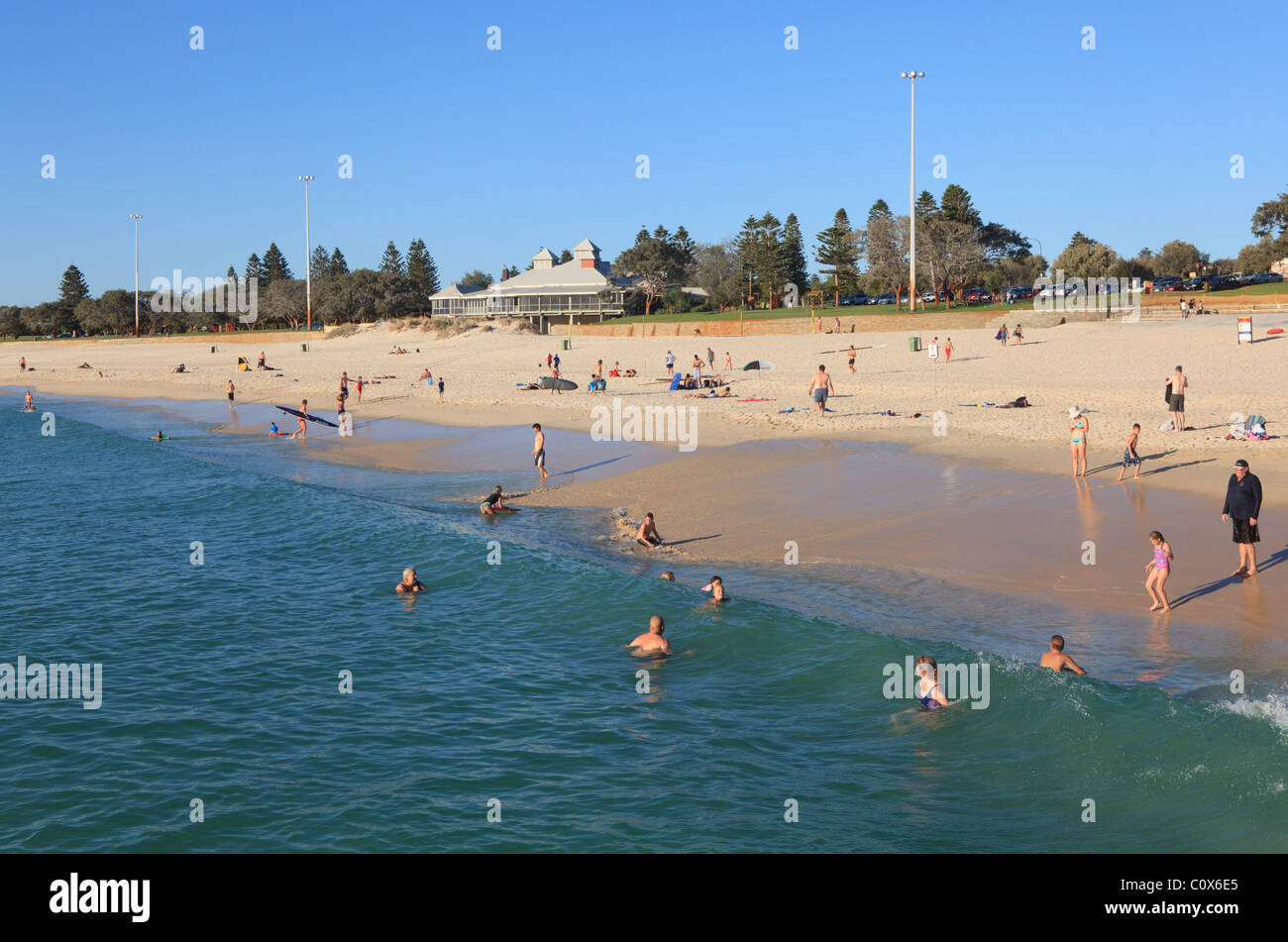 City Beach on a summer afternoon. Perth, Western Australia - Stock Image