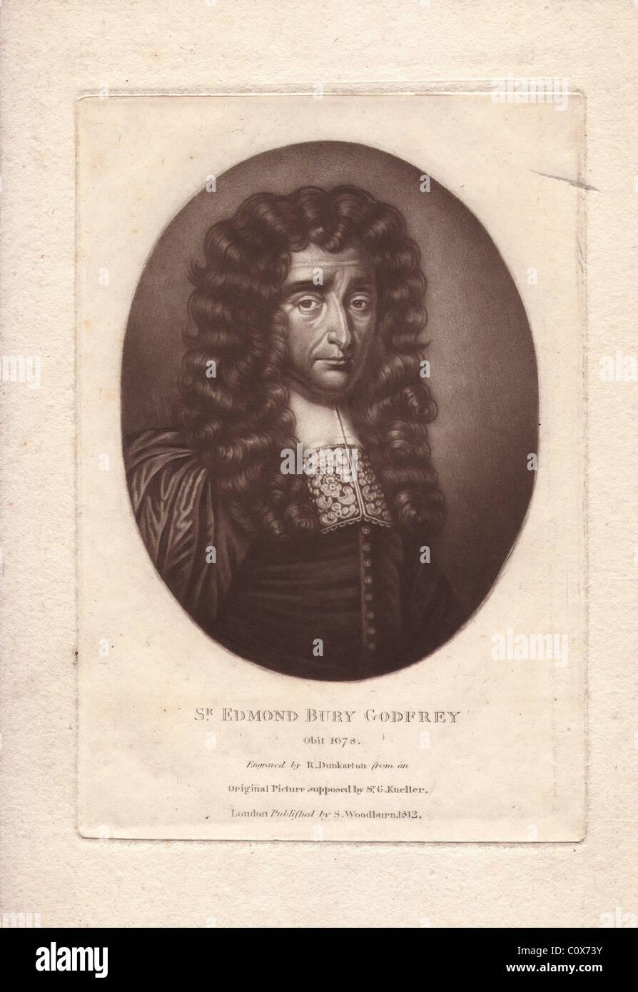 Sir Edmond Bury Godfrey (1621-1678), English magistrate - Stock Image