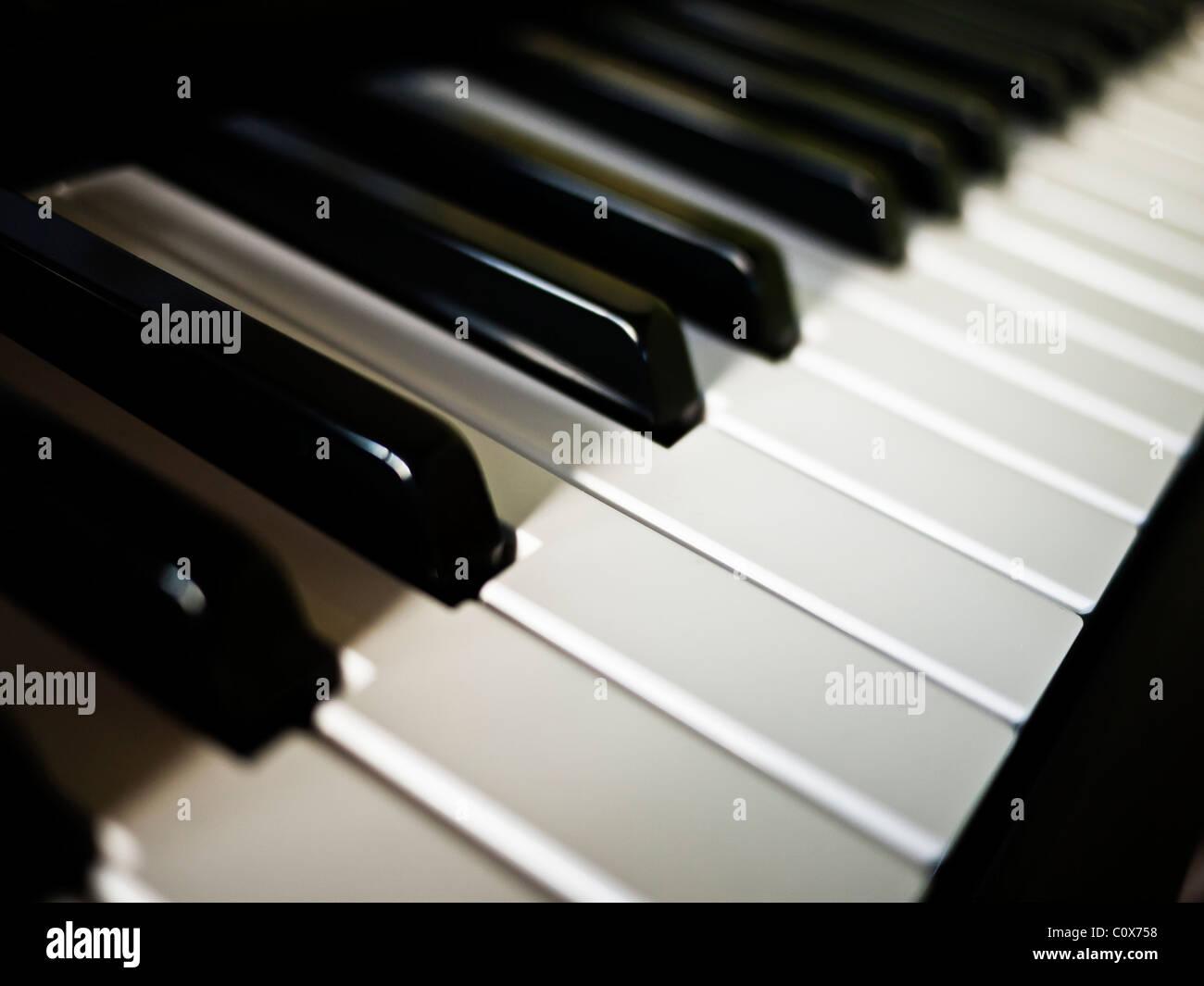 Electric piano keyboard - Stock Image