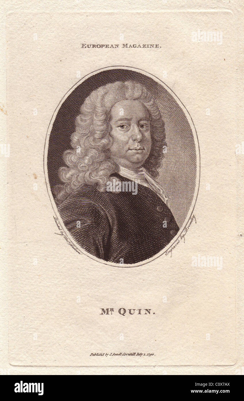 Mr. James Quin (1693-1766), English actor. Stock Photo