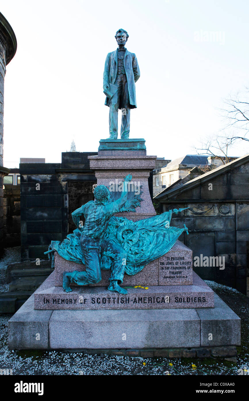 A memorial in honour of the Scottish-American soldiers who fought in the American Civil War of 1861 to 1865. Stock Photo