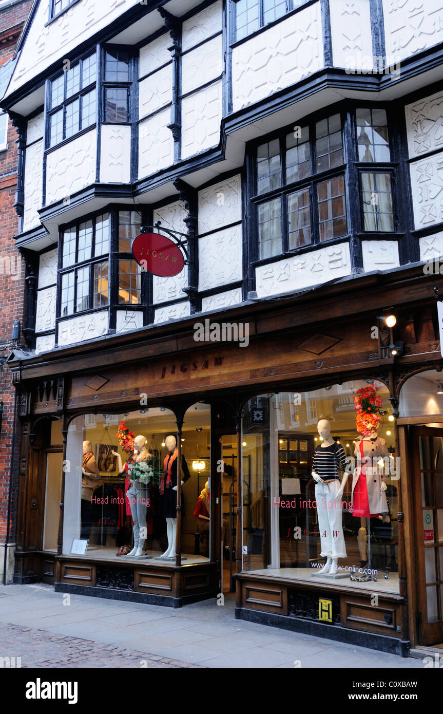 Jigsaw Womens Clothing Shop, Trinity Street, Cambridge, England, Uk - Stock Image