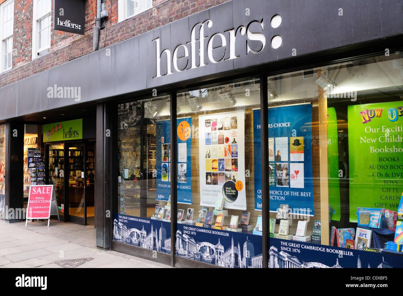Heffers Bookshop, Trinity Street, Cambridge, England, UK - Stock Image
