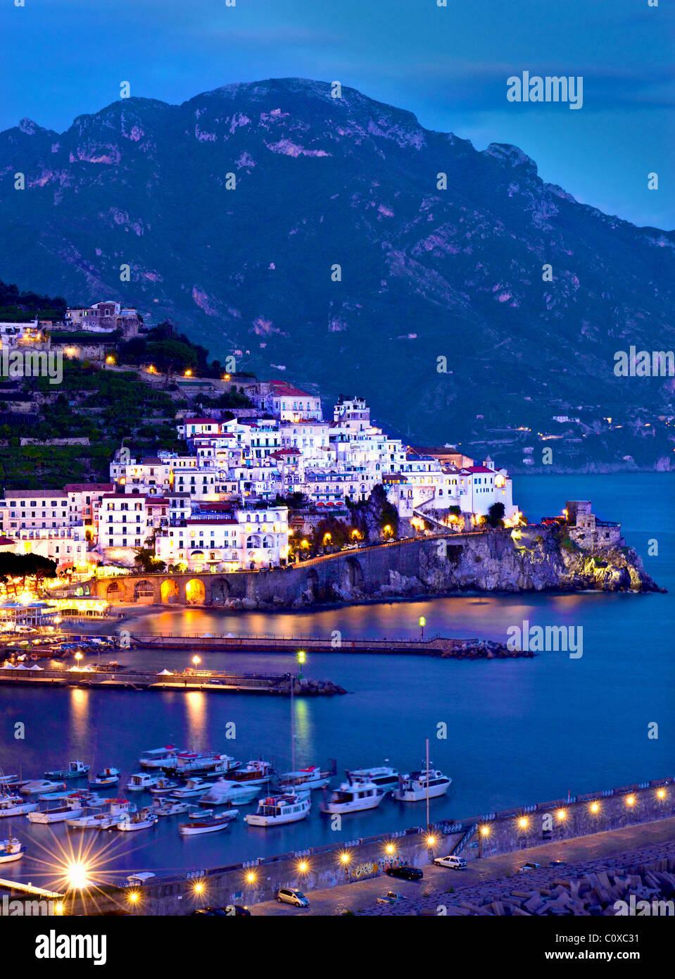 Amalfi,coast,night.Italy - Stock Image