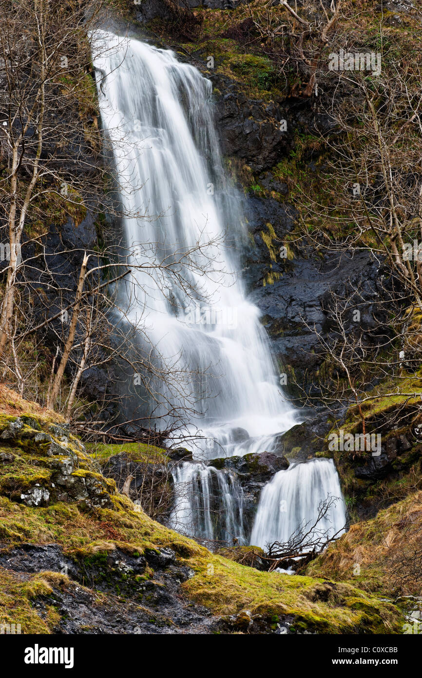 The Spout of Craighorn Waterfall, Alva Glen, Alva, Clackmannanshire, Scotland, UK - Stock Image