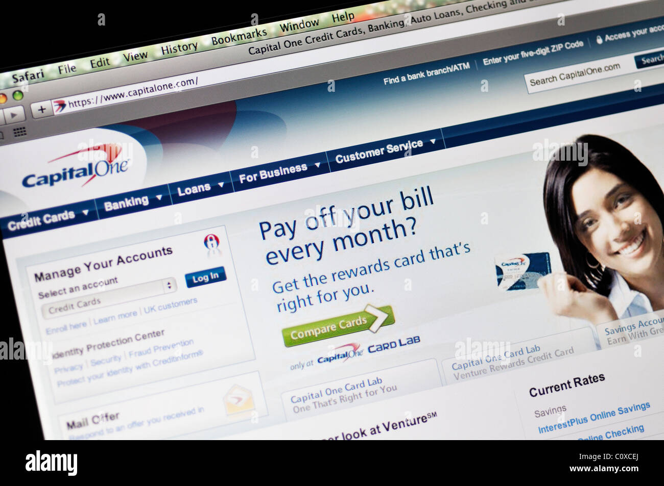 How to access capital one credit card online