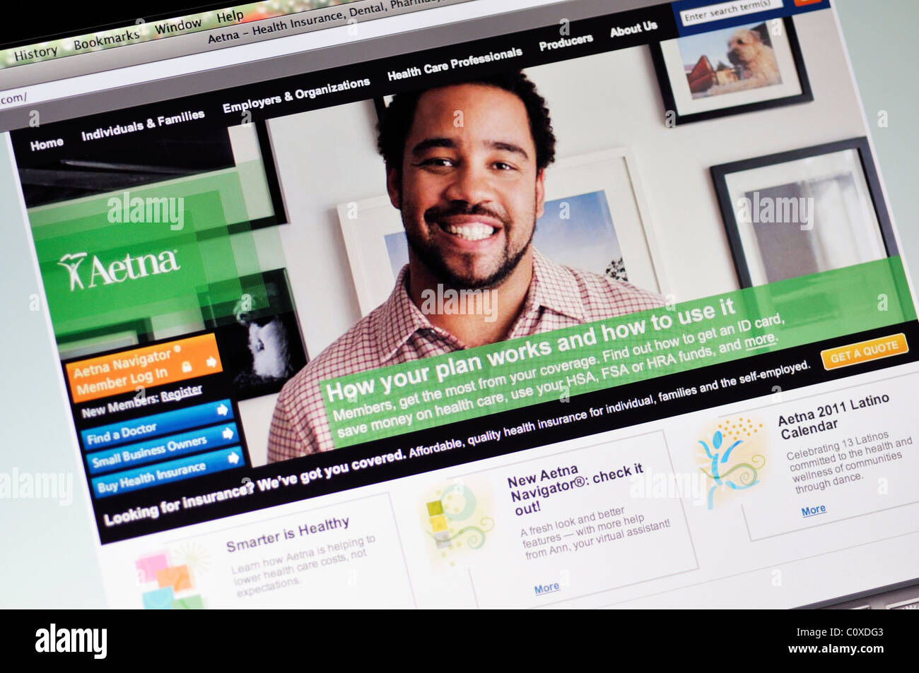 Aetna Health insurance website Stock Photo: 35002131 - Alamy
