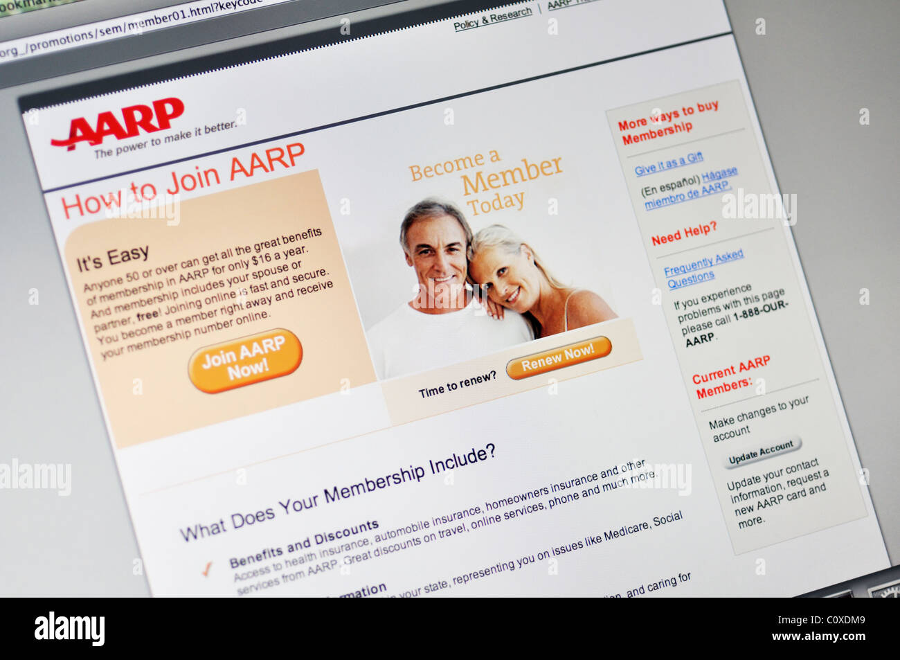 Aarp Health Insurance >> Aarp Health Insurance Website Stock Photo 35002249 Alamy