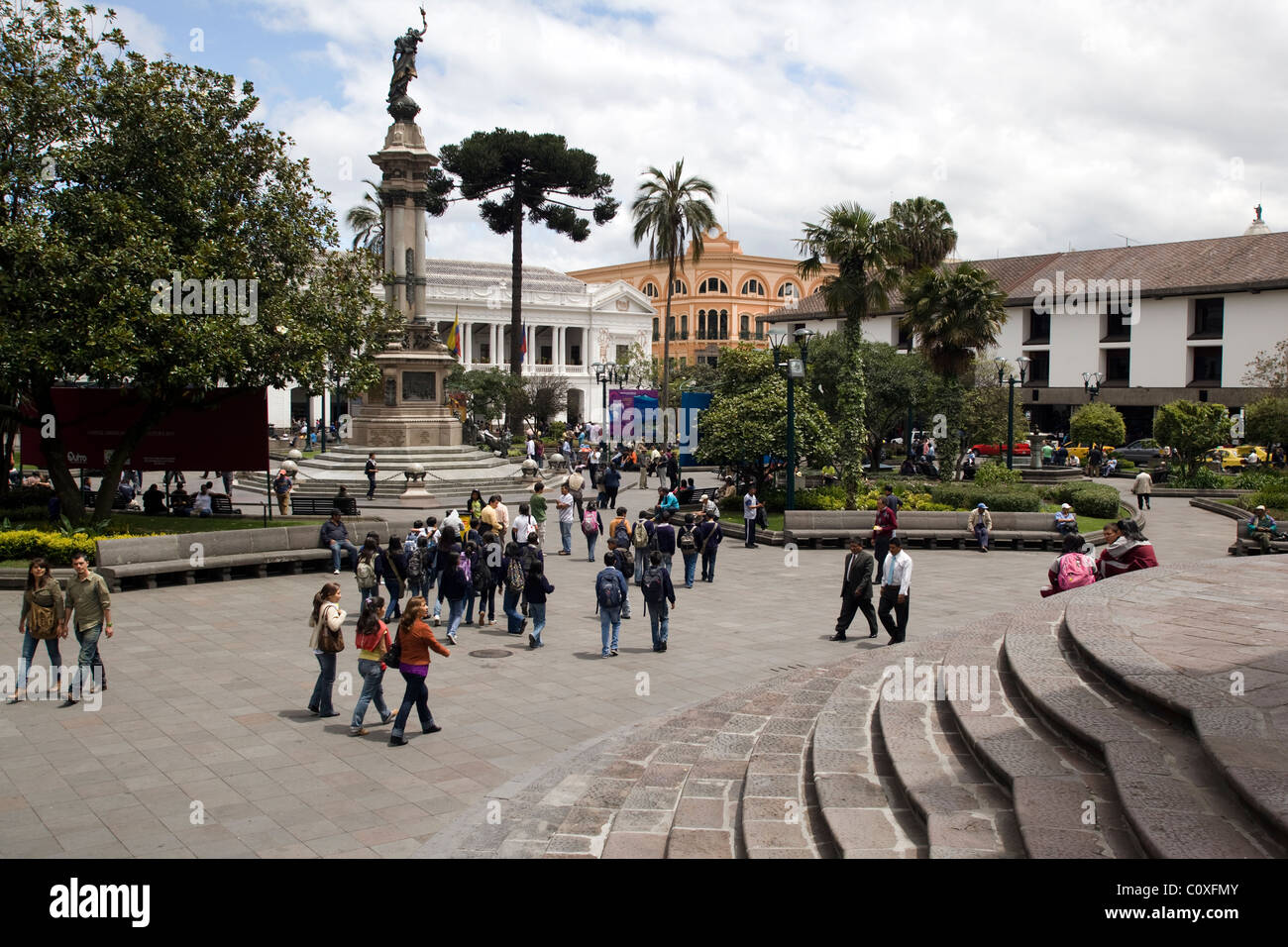 Independence Plaza - Quito, Ecuador - Stock Image