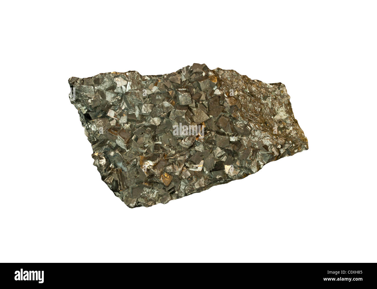 Arsenopyrite crystals from Zacatescas Mexico - Stock Image