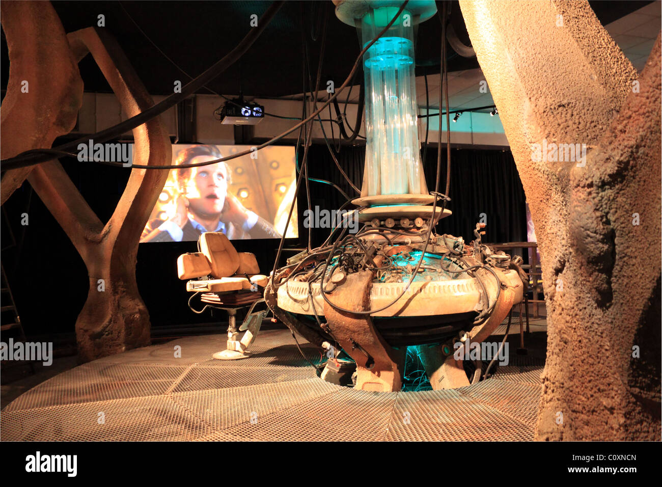 Recent Tardis exhibit, Doctor Who Experience, Hammersmith Road, London, England, Great Britain, United Kingdom, - Stock Image