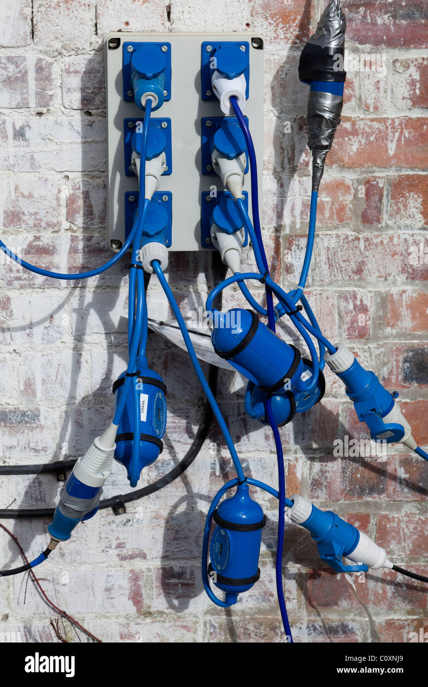 Outdoor Electrical Sockets Stock Photos Marine Wiring Power And Meters Image