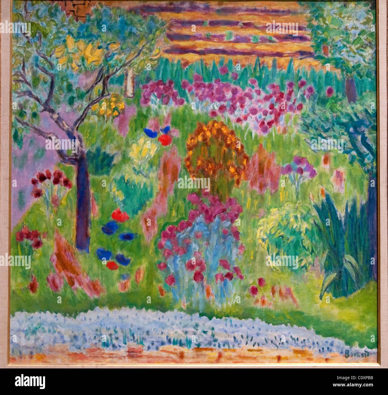 Garden, ca. 1935, by Pierre Bonnard, - Stock Image
