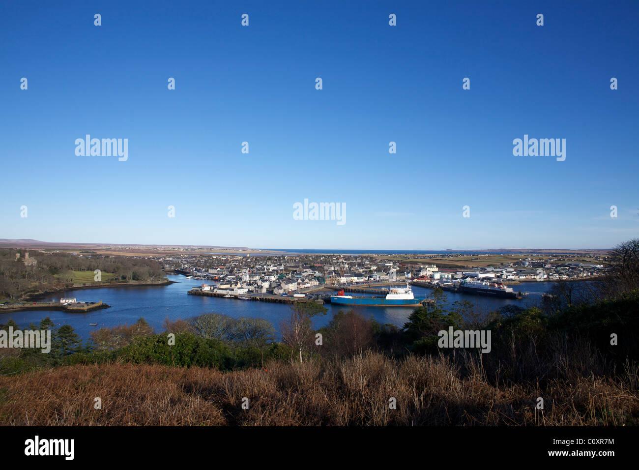 Stornoway, Isle of Lewis. - Stock Image