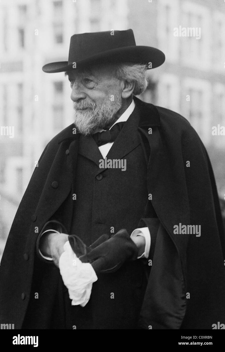 Vintage photo circa 1912 of pioneering German-born US pediatrician Abraham Jacobi (1830 - 1919). - Stock Image