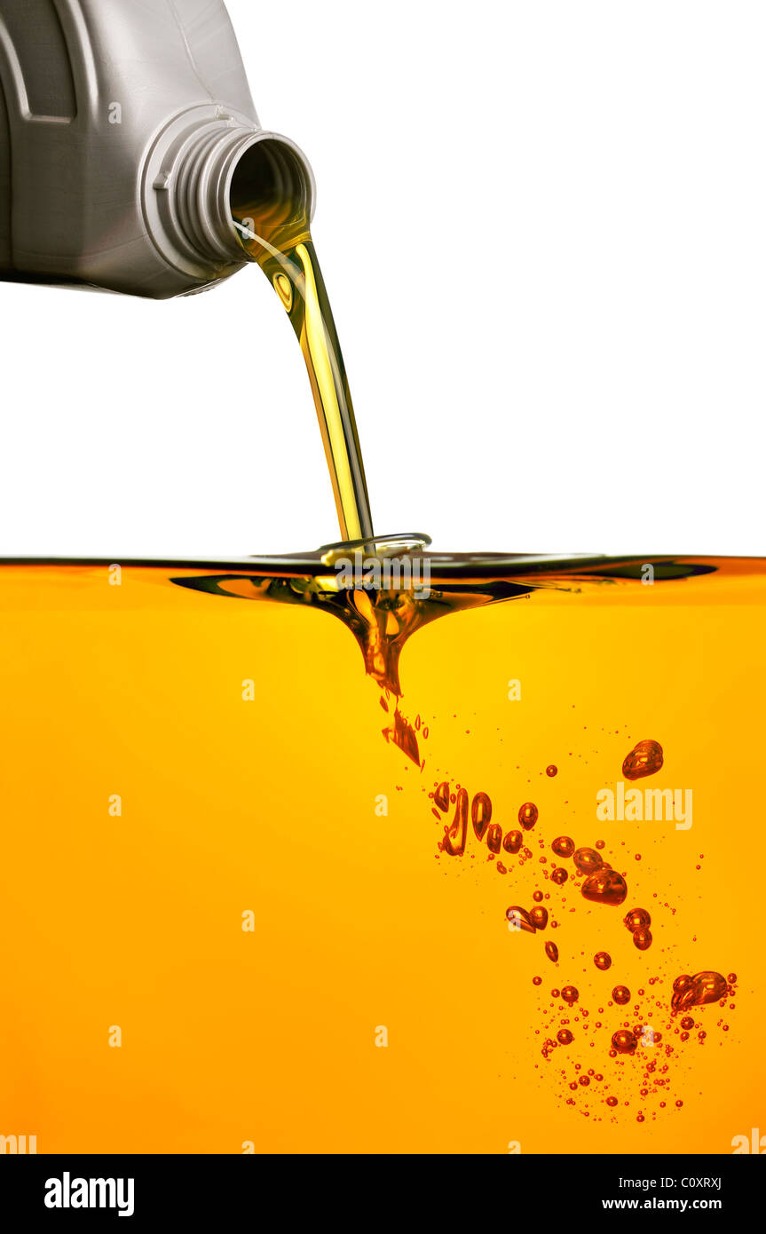 Pouring Oil - Stock Image