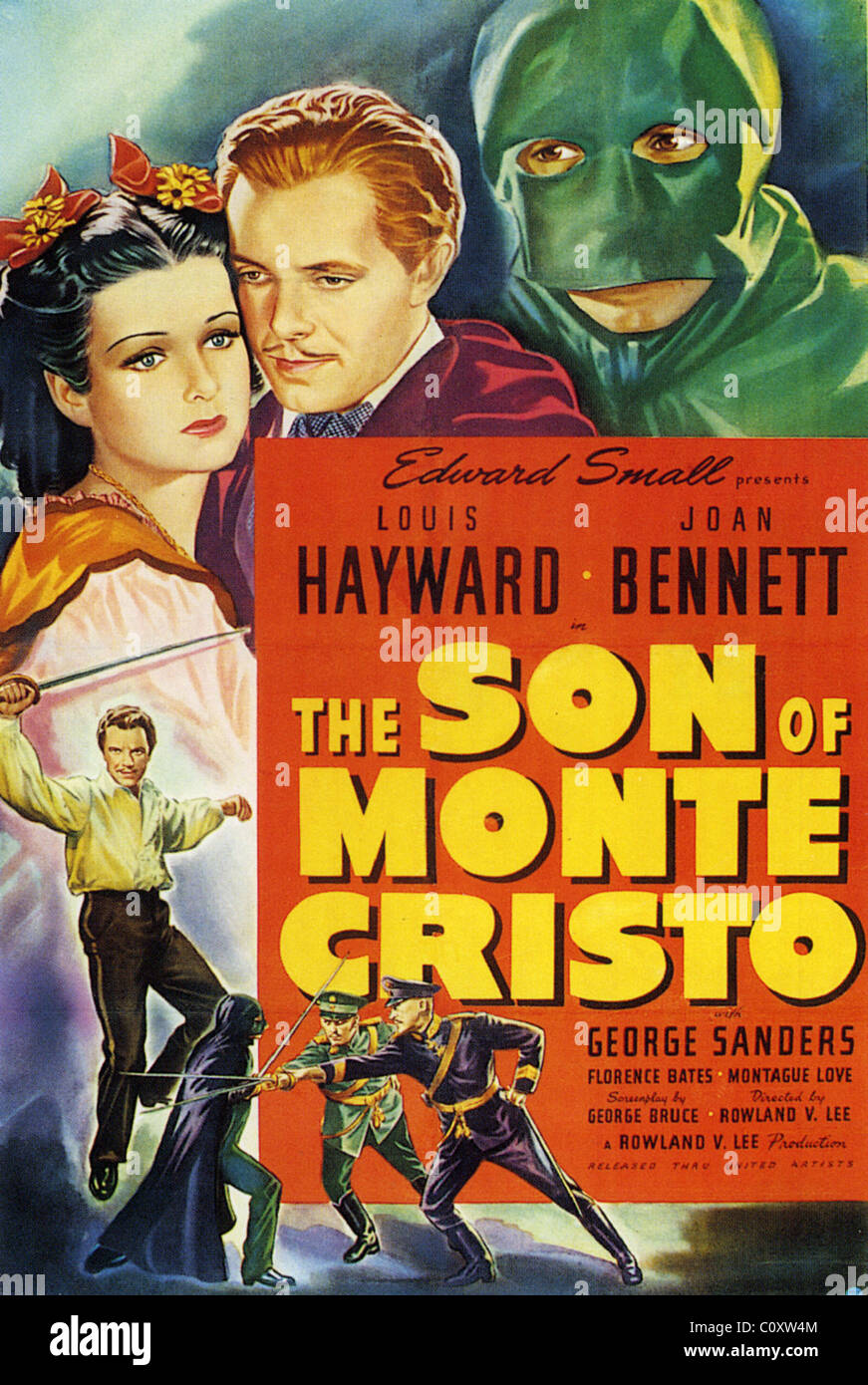 THE SON OF MONTE CRISTO  Poster for 1940 Edward Small film with Joan Bennett and George Sanders - Stock Image