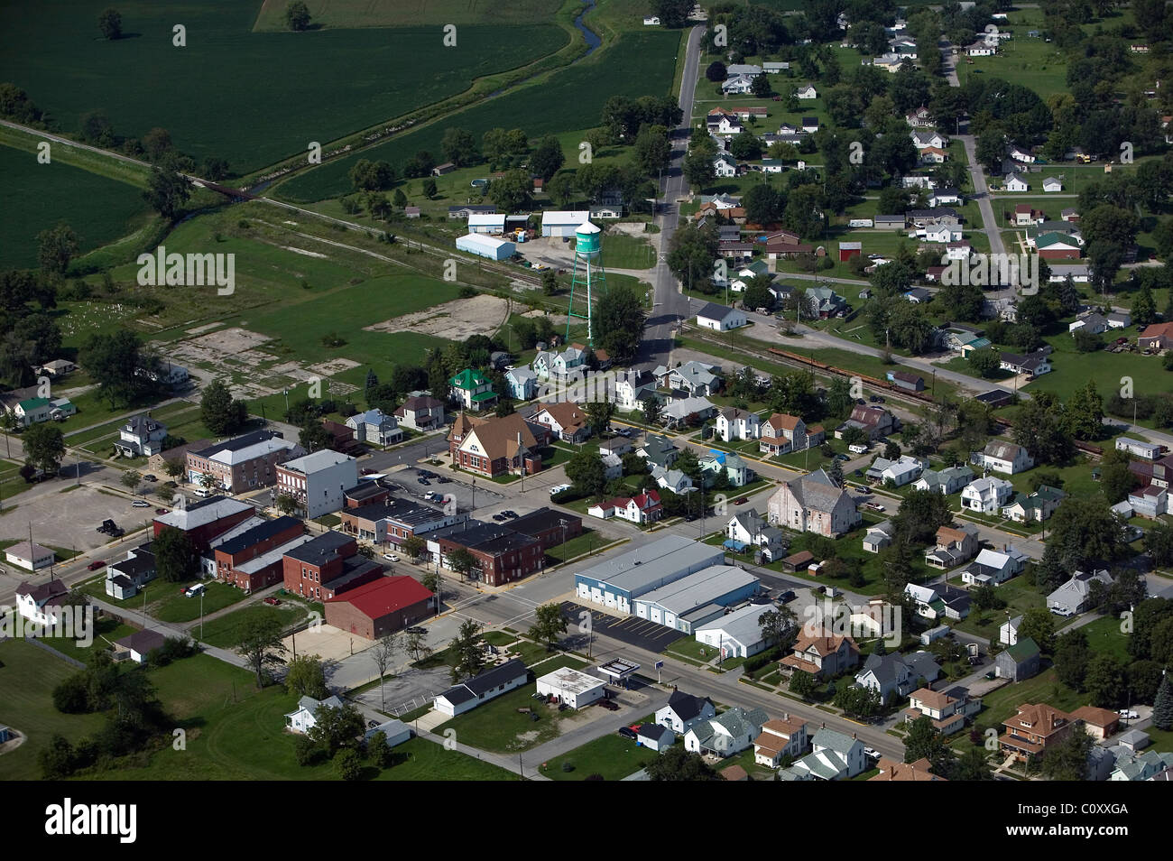 aerial view above Jefferson Illinois - Stock Image