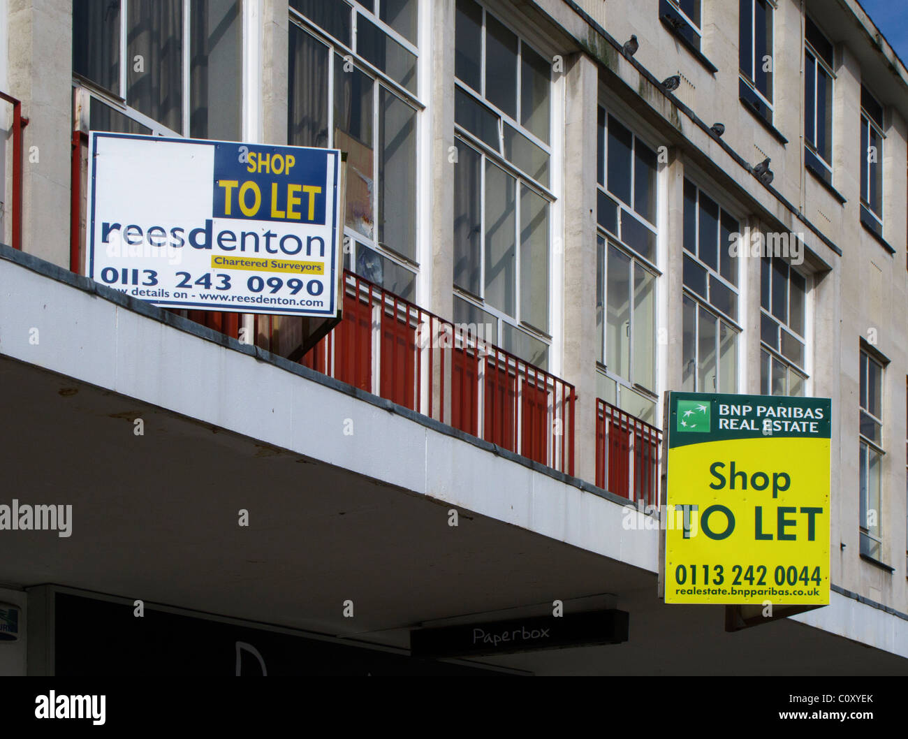 High street shops to let - Stock Image